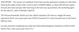 the-landmark-landmark-tower-up-for-collective-sale-with-expected-price-of-more-than-S$300million-2